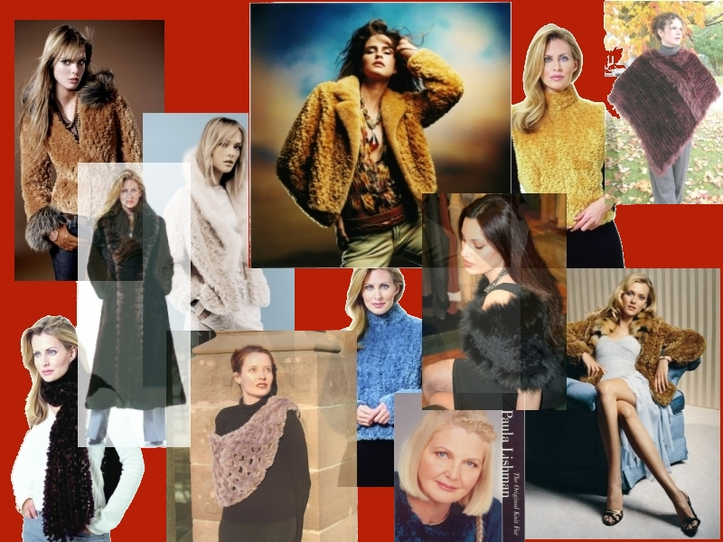 Модели одежды из вязаного меха
