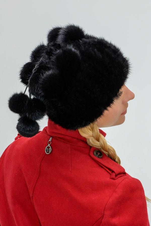 Меховая шапка с меховым помпоном своими руками