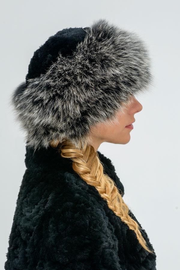 схема вязания шапки с оторочкой мехом образцы ажурного вязания
