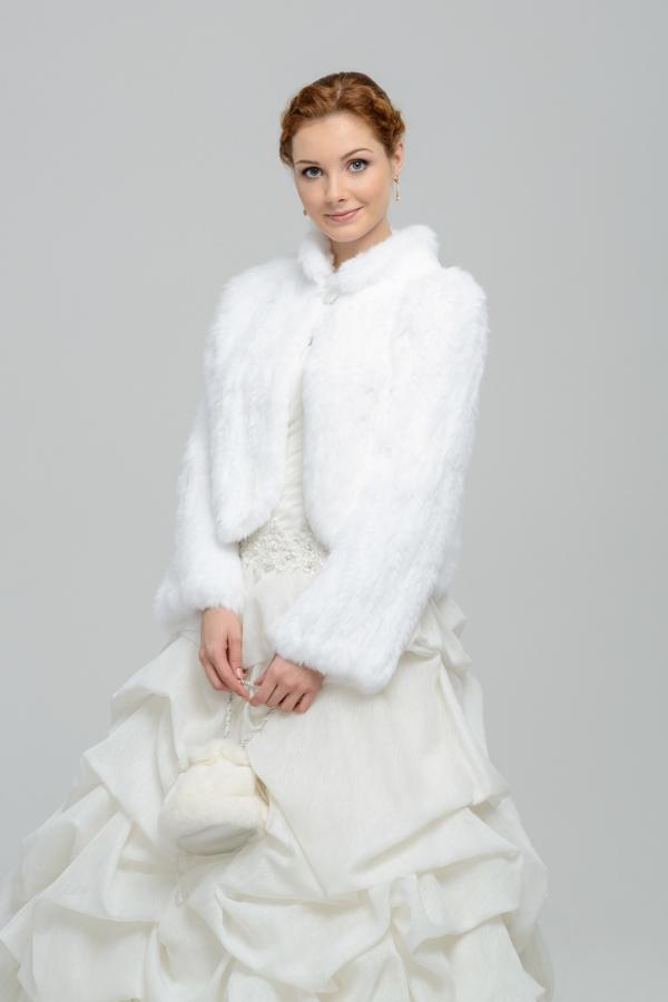 Свадебное меховое платье